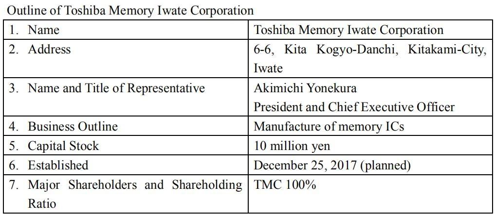 东芝在岩手筹建Fab 7工厂,初期建设投资70亿日元