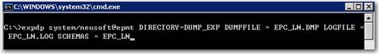 oracle 10g 数据泵操作命令