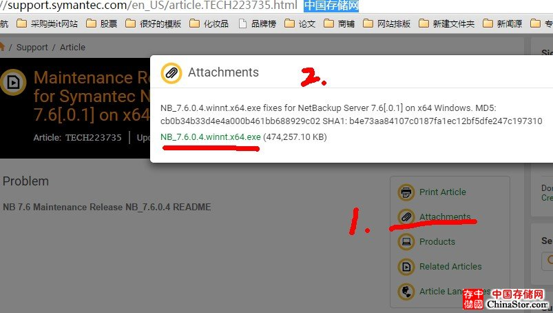 Symantec Netbackup 7.6下载地址大全