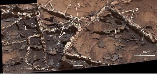 NASA好奇号在火星发现众多矿脉