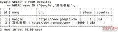 SQL IN 操作符