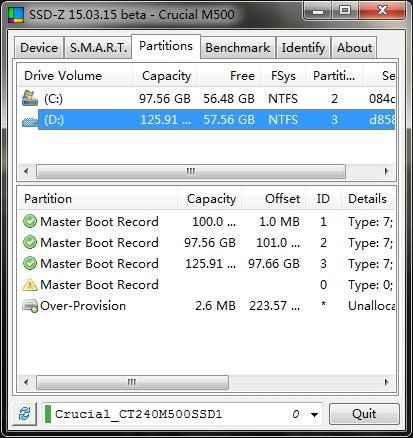 SSD-Z固态硬盘检测工具15.03.15b绿色版For Windows