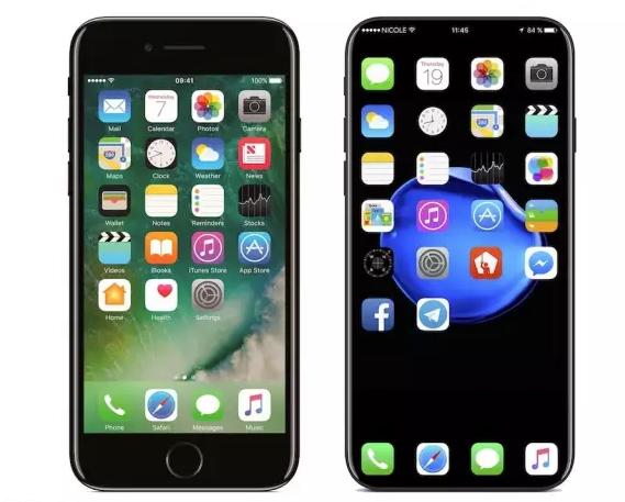 iPhone 8弧面无边框,去除 Home 键更加惊艳!