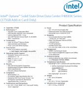 Intel拟推出Optane SSD DC P4800X固态硬盘