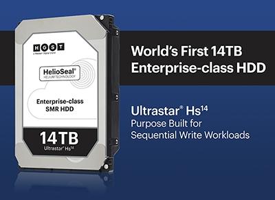 西部数据HGST全球首发14TB硬盘:四代充氦+二代叠瓦式