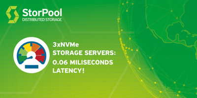 StorPool的NVMe系统延迟为仅0.06ms
