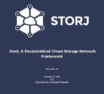 区块链存储storJ公开Alpha V3平台,并发布最新白皮书(附下载地址)