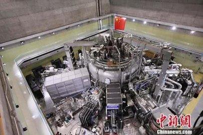 """中国""""人造小太阳""""实现电子温度1亿摄氏度等离子体运行"""