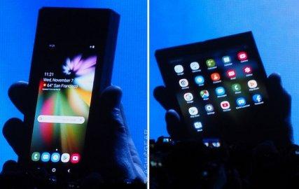概念变现实:三星展示可折叠屏幕智能手机