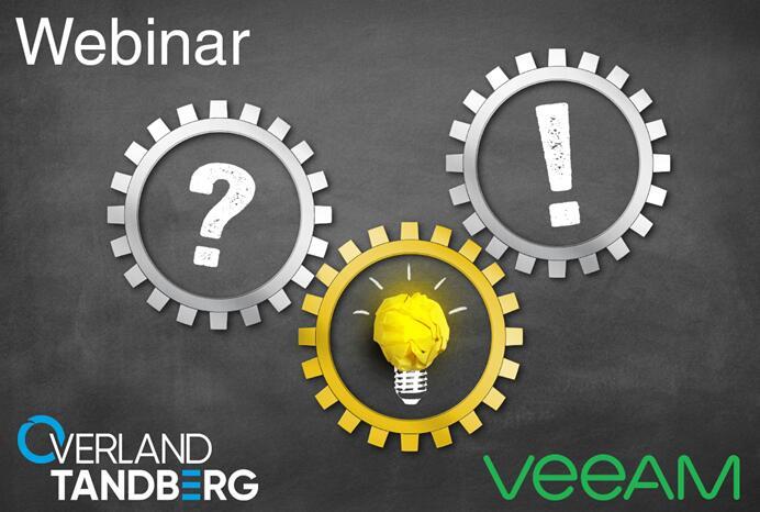 网络研讨会 -- RDX QuikStation 和 Veeam数据保护解决方案