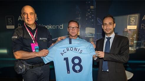 Acronis(安克诺斯)官宣成为曼城足球俱乐部官方数据备份与存储合作伙伴