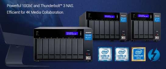 Qnap发布TVS-x72XT系列NAS存储产品,