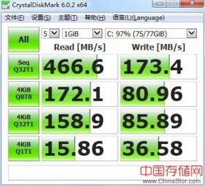 CrystalDiskMark,一款磁盘基准测试软件