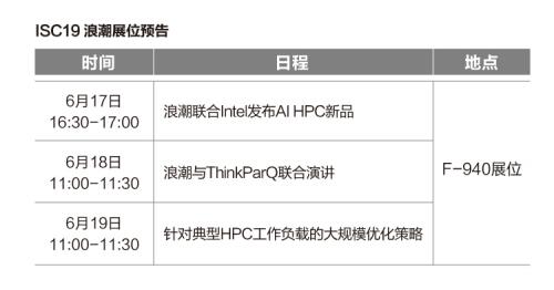 浪潮将在ISC19展示最新AI HPC融合产品及方案