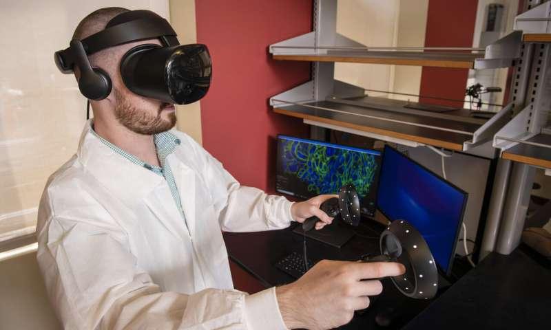 纳米级成像技术与虚拟现实(VR)技术结合,更好的观察细胞内部