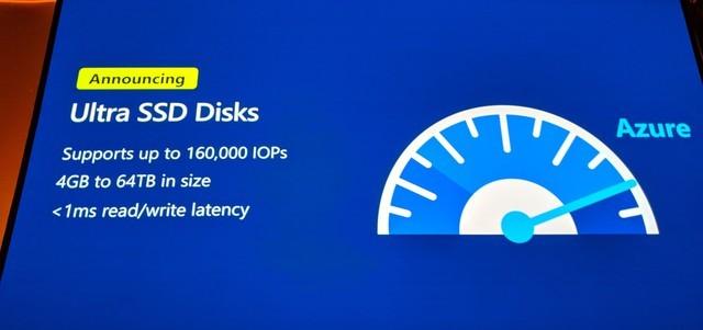 微软推出Azure Ultra Disk云存储服务,最大吞吐量2000 MBps