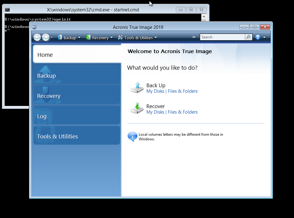 Acronis True Image 2020:如何使用基于WinPE或基于WinRE的媒体还原计算机