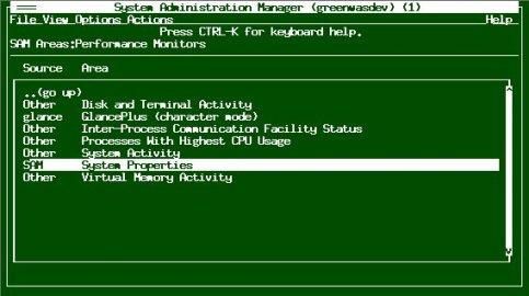 HP-UX的SAM系统管理工具介绍及使用方法