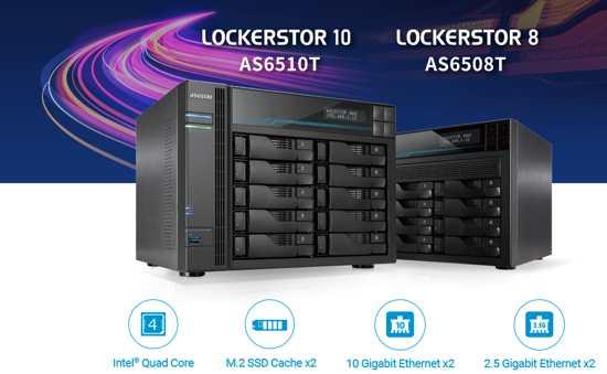 华芸Asustor新推8托架和10托架商用NAS存储设备