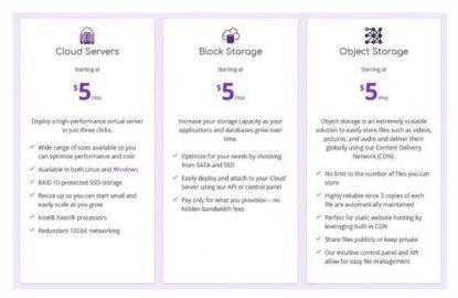 每月5美金,具有云服务器以及块和对象存储的SpinUp解决方案