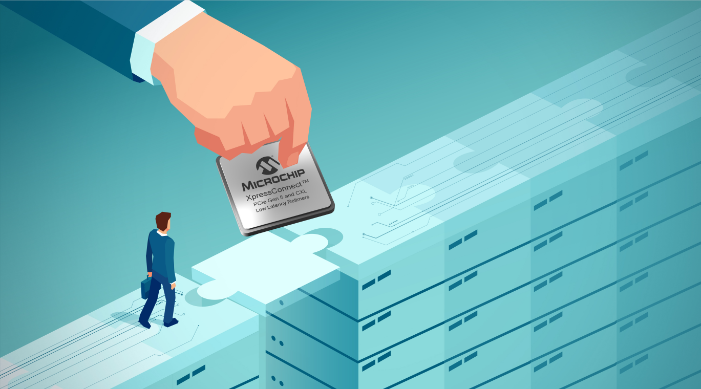 Microchip推出业界延迟最短的PCI Express  5.0和CXLTM 2.0重定时器, 扩大在数据中心连接领域的领先地位
