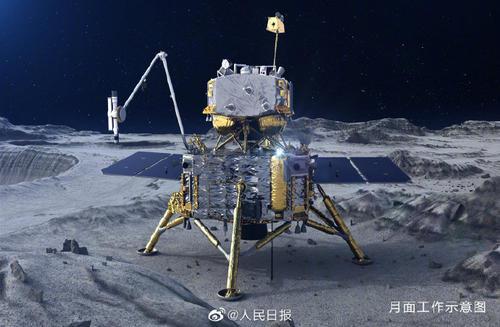 嫦娥五号轨道器和返回器组合体,实施第二次月地转移入射