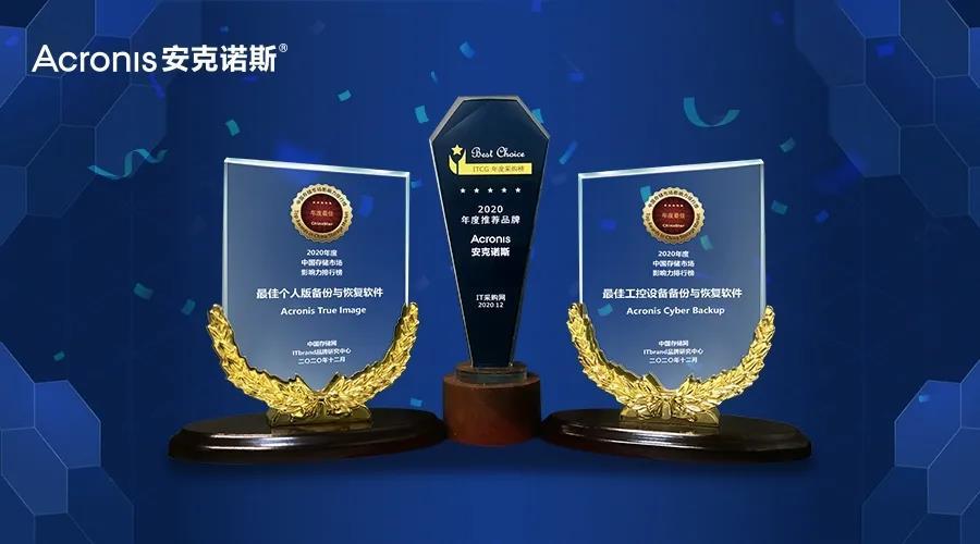 完美收官!Acronis安克诺斯荣获两大平台三大奖项!