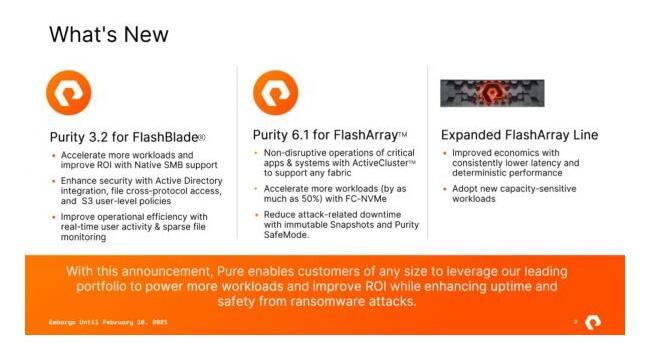 Pure Storage更新其统一存储产品,升级Purity软件并使用第三代QLC平台